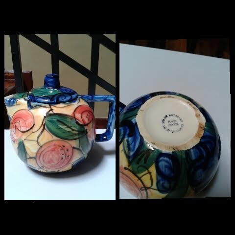 Stage Artware Tea Set-Sunflower in Dark Blue Background Stage_10