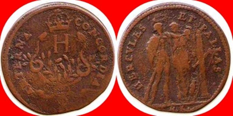 Jetón de Nuremeberg. Maestro Hans Krauwinckel. 1580-1610. AETERNA CONCORDIA.   1580_110