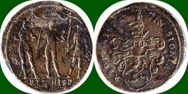 Jetón de Núremberg dedicado al Rey de España. 1610-1616. Hans Krauwinckel II. 1598--10
