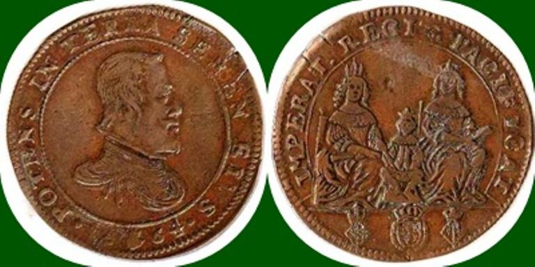 Jetón de Felipe IV. 1664. Amberes. Proyecto de matrimonio de Margarita de España con Leopoldo de Austria. 1664_f10