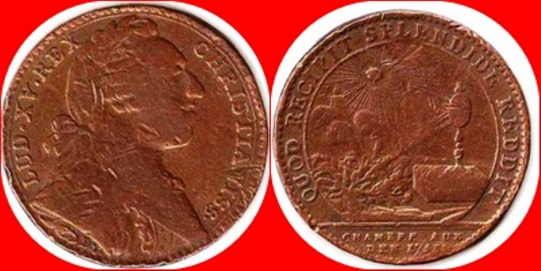 Jetón de Luis XV. 1753. QUOD RECIPIT SPLENDIDE REDDIT 1753_l10