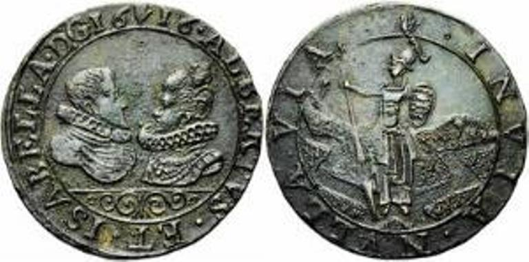 1616 Jetón de los Archiduques Alberto e Isabel. Saaa11