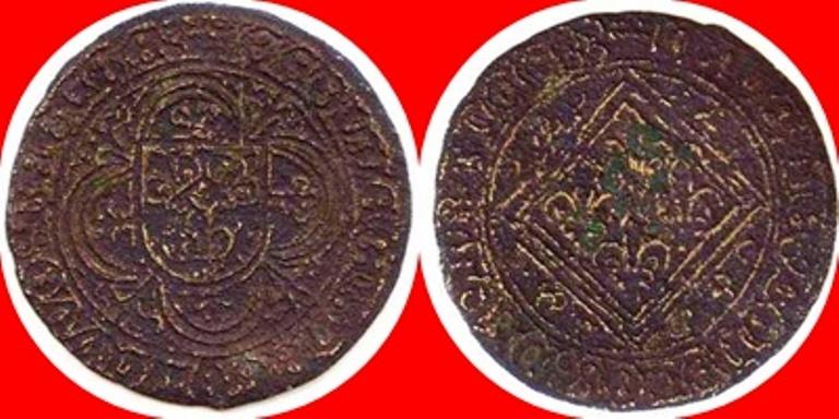 Jetón de Núremberg. 4 Flores de Lis en Rombo. s.XV-XVI. Siglo_11