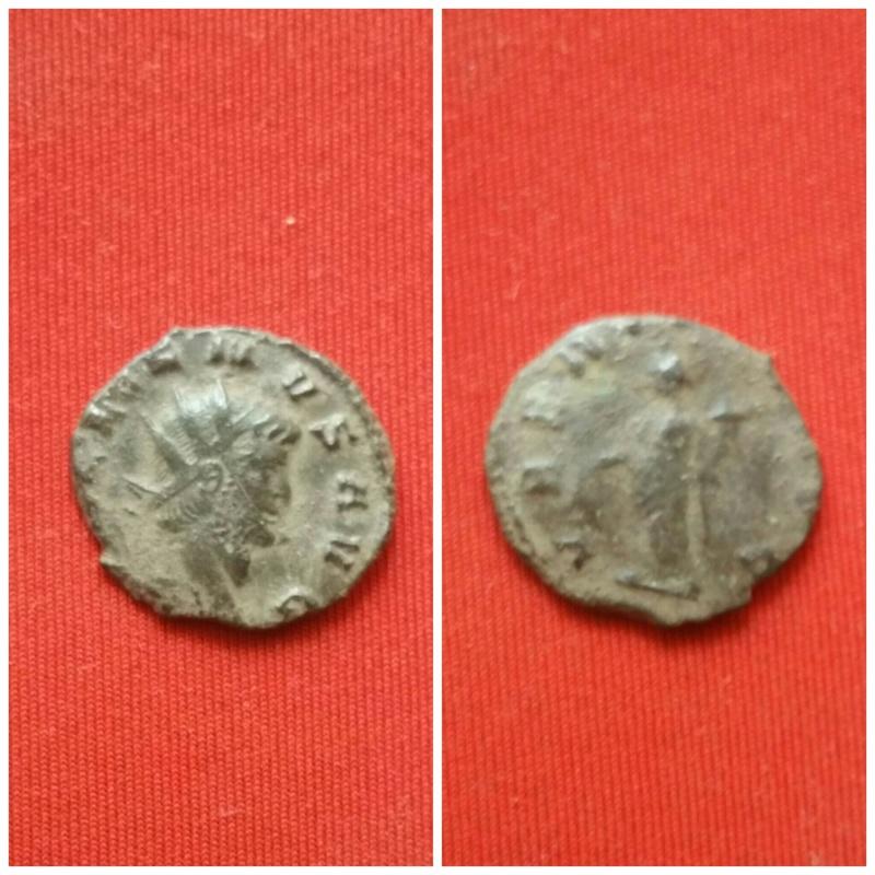 Antoniniano de Galieno. VBERITAS o VBERTAS AVG. Uberitas estante a izq. Ceca Roma. Picsar15