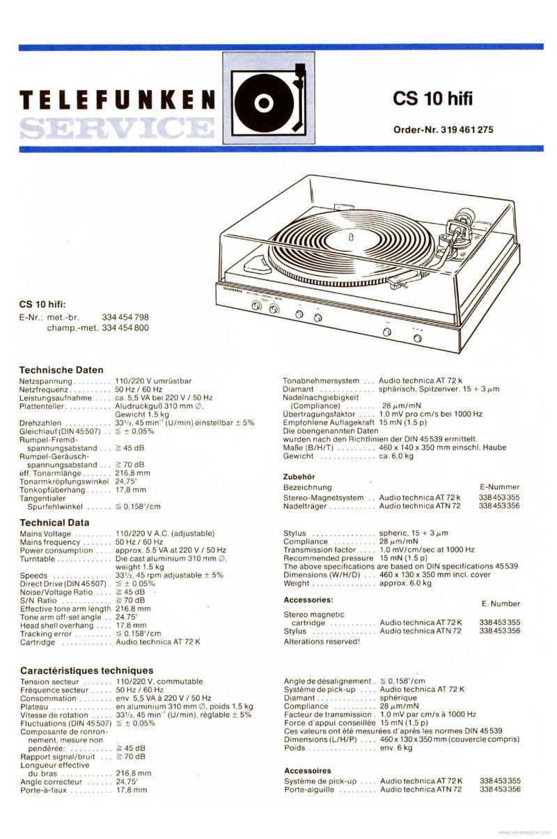 Giradischi  Telefunken modello TS 950 (upgrade testina/puntina) - Pagina 3 Telefu10
