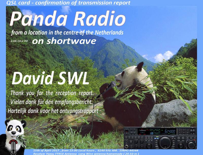 eQSL de PANDA radio 15-04-12