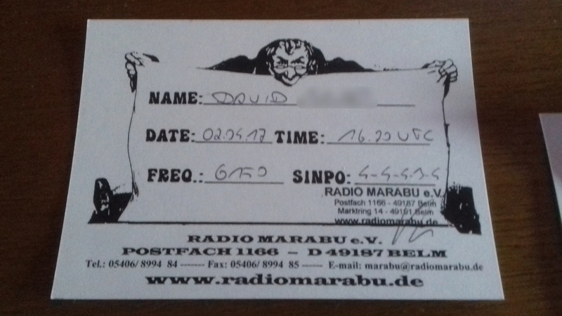 Courrier de radio MARABU 20170413