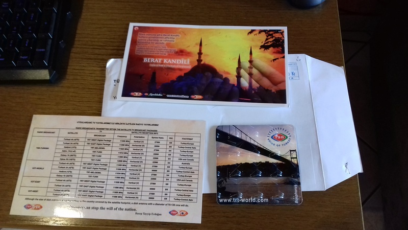 QSL voice of Turkey 20170533