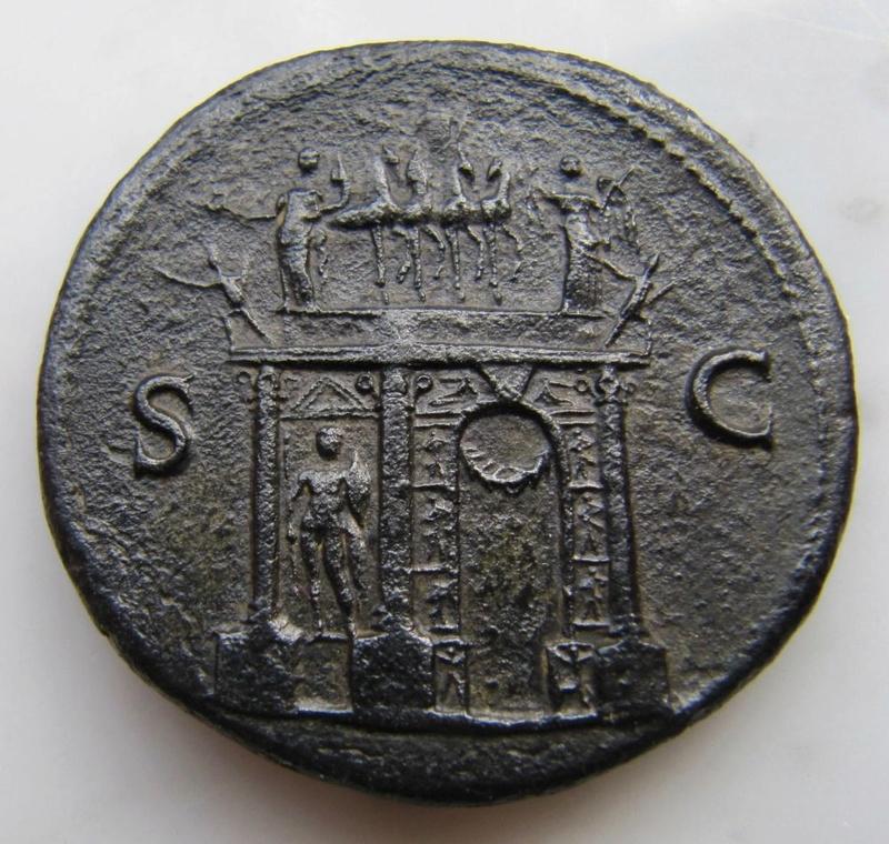 Un Sesterce de Néron frappé à Lyon Nero_s11