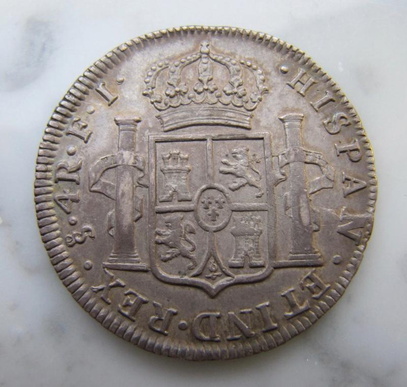4 reales 1813. Fernando VII. Santiago de Chile Santia14