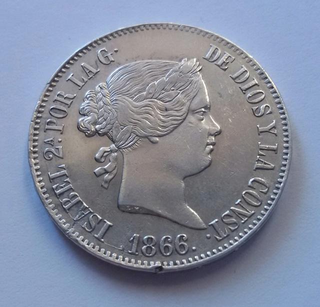 1 escudo 1866 Isabel II Madrid. 1_escu10