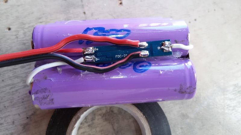 Batería li-Ion para foco de bici. Problema con BMS 20170410