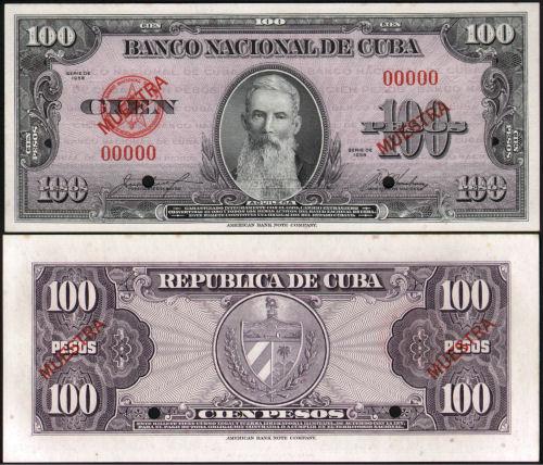 CUBA 3 PESOS 1995 MUESTRA 104-1010