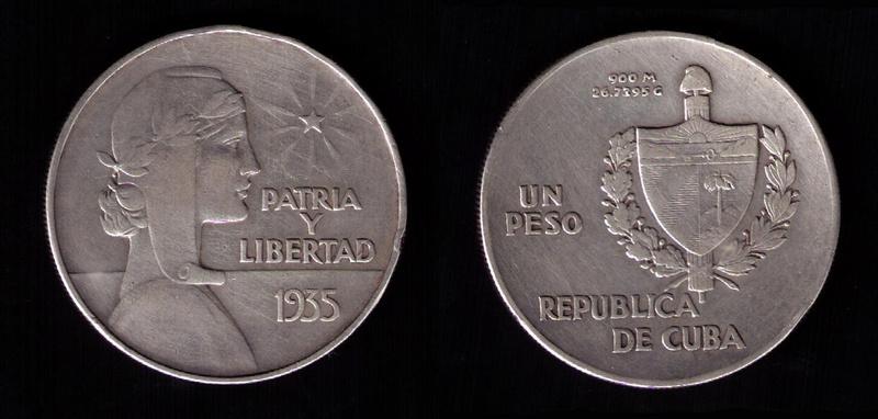 CUBA 1 PESO 1.935 ABC 1935_110