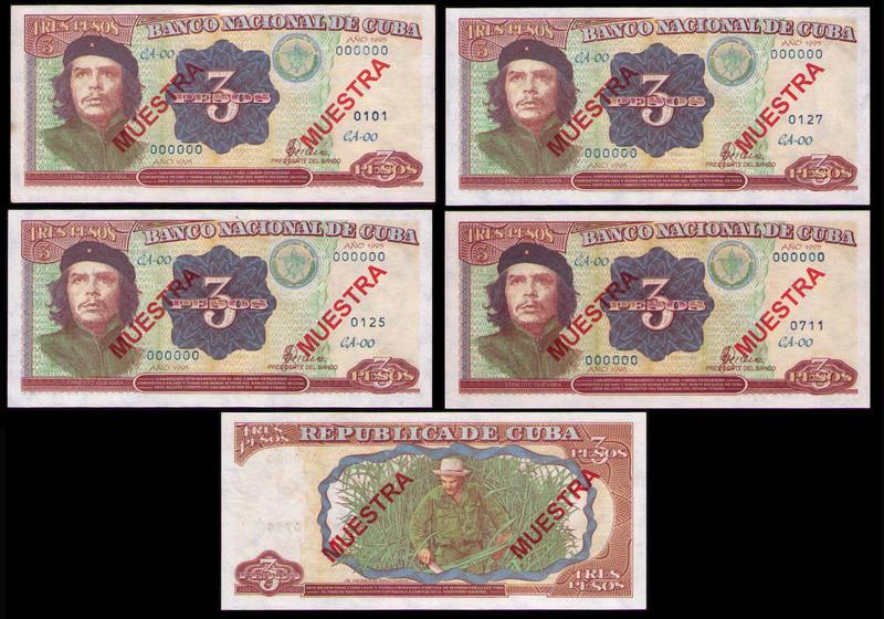 CUBA 3 PESOS 1995 MUESTRA 1995_c10