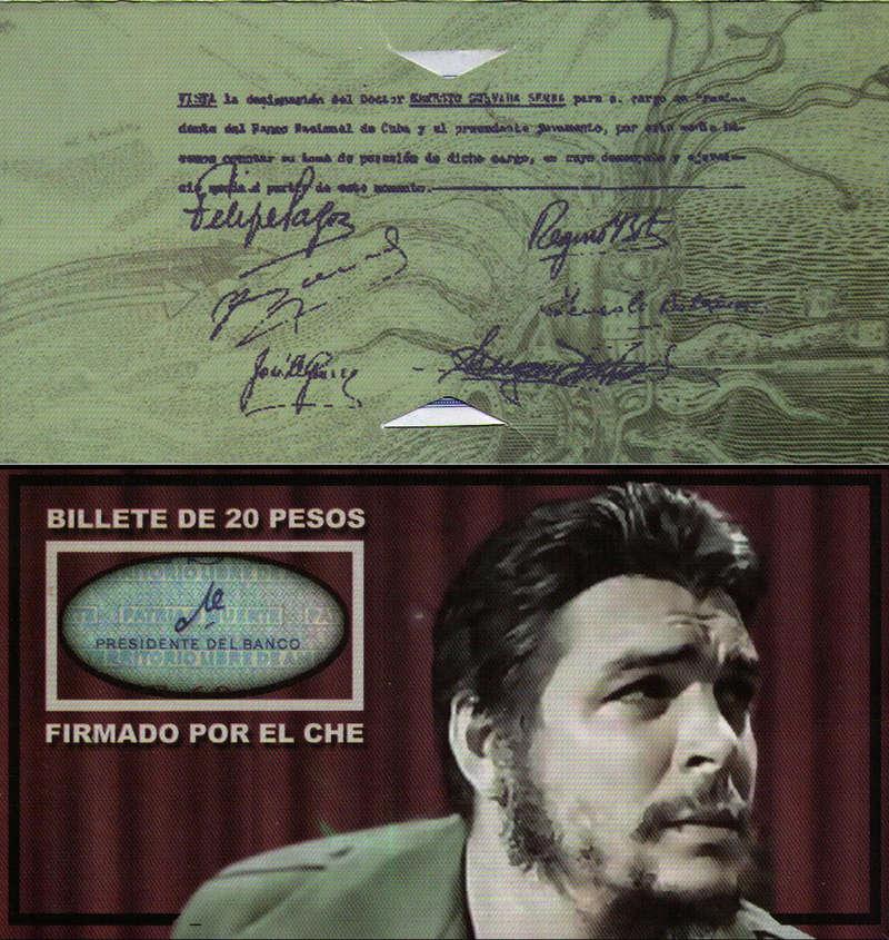"""Carpeta Conmemorativa del """"Che""""  20 Pesos 1961 Carpet10"""