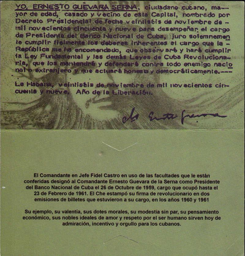 """Carpeta Conmemorativa del """"Che""""  20 Pesos 1961 Carpet11"""
