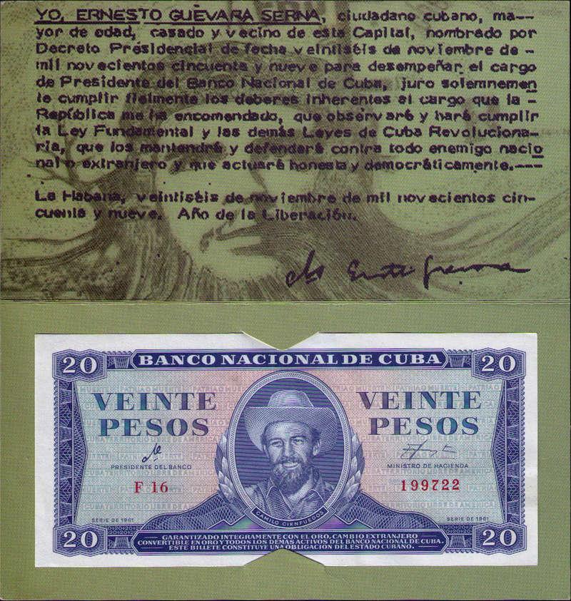 """Carpeta Conmemorativa del """"Che""""  20 Pesos 1961 Carpet12"""