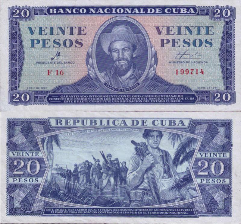 """Carpeta Conmemorativa del """"Che""""  20 Pesos 1961 Cuba_110"""