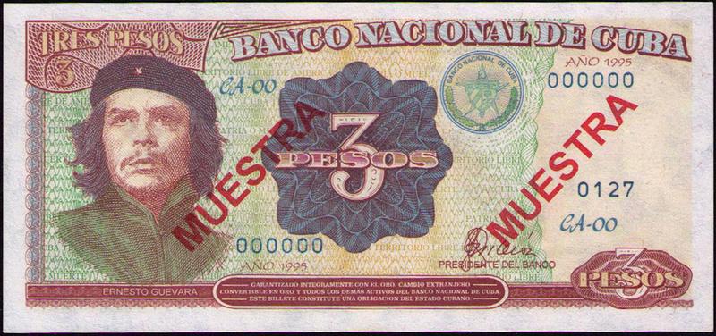 CUBA 3 PESOS 1995 MUESTRA Cuba_311