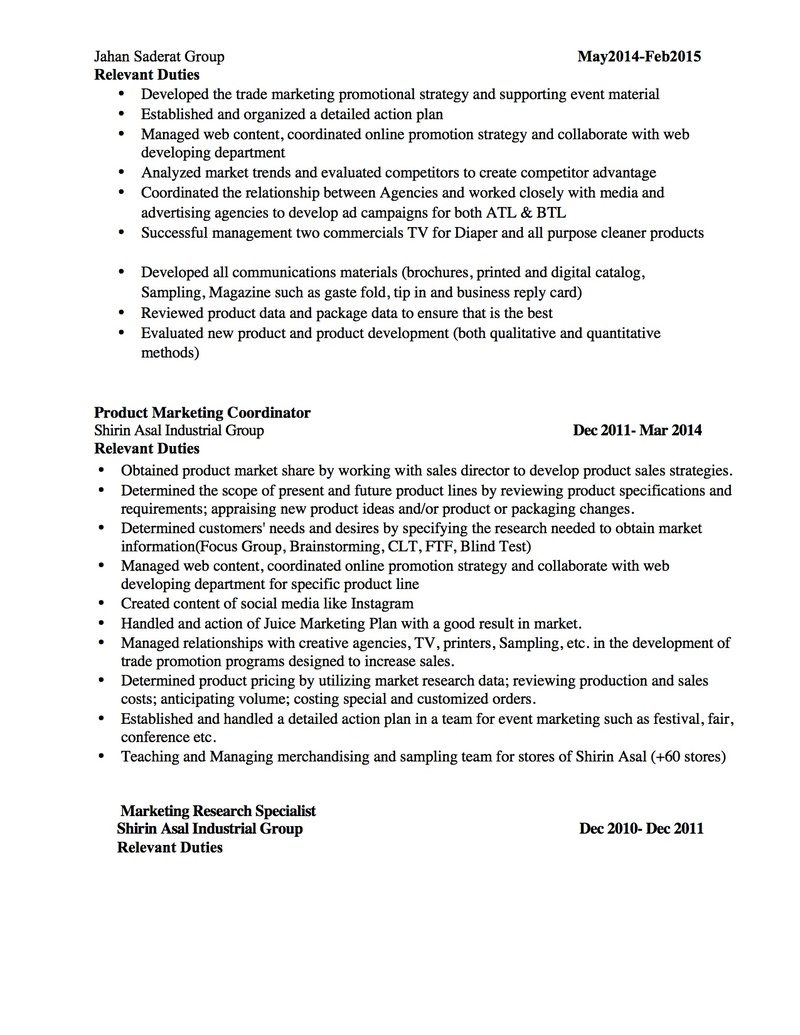 Having the perfect resume - Option 2 Before12