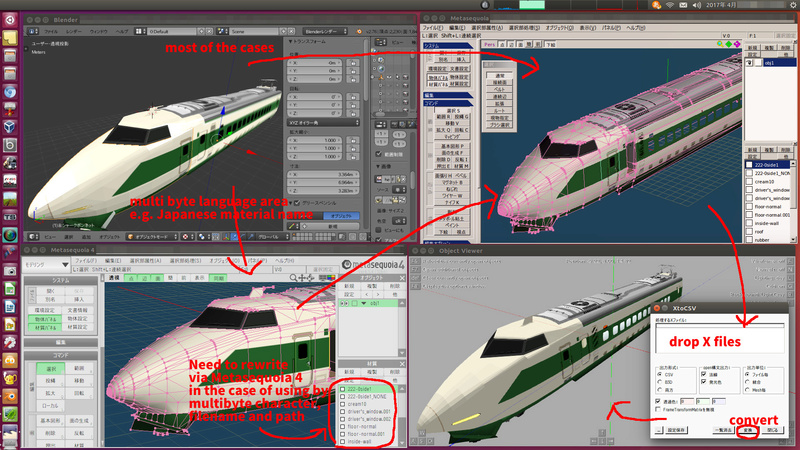 [Exoprt HOW TO]:Blender(2.76b) and Metasequoia to OpenBVE's csv Blende10