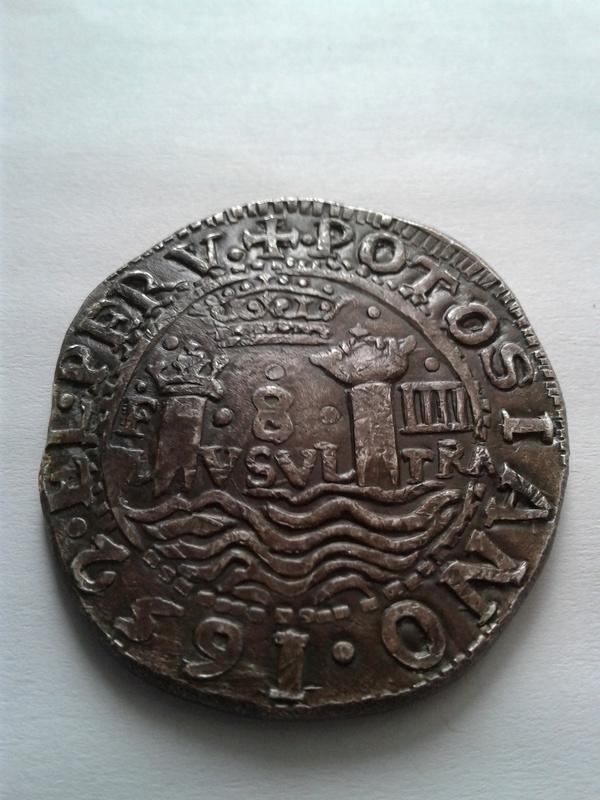 8  reales 1652, Potosi 20170412
