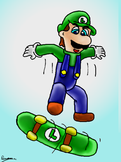 Ma deuxième passion : les dessins ! (et pas que ça) Luigi_10