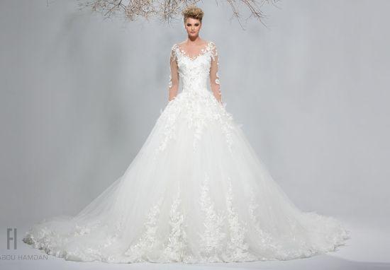 احدث واجمل فساتين زفاف 2018 120