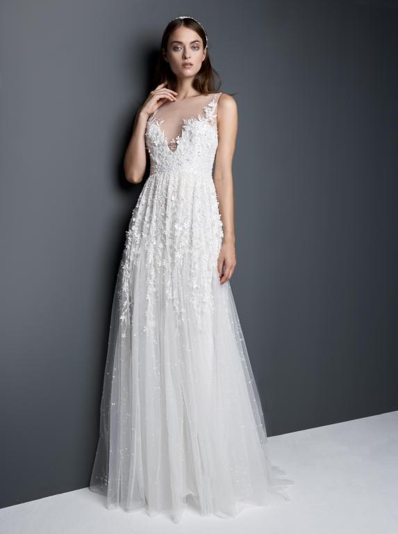 احدث واجمل فساتين زفاف 2018 916