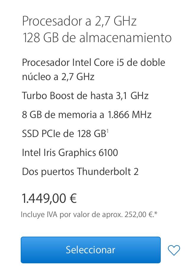 "[VENDO] Macbook Pro 13"" RETINA i5 2.7Ghz   8GB   128SSD Compra10"