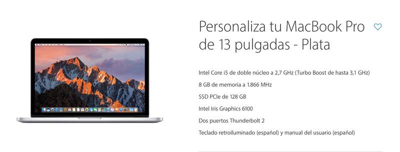 """[VENDO] Macbook Pro 13"""" RETINA i5 2.7Ghz   8GB   128SSD Config10"""