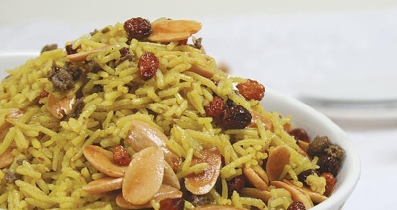 اكلة الأرز البسمتي باللحم المفروم 443