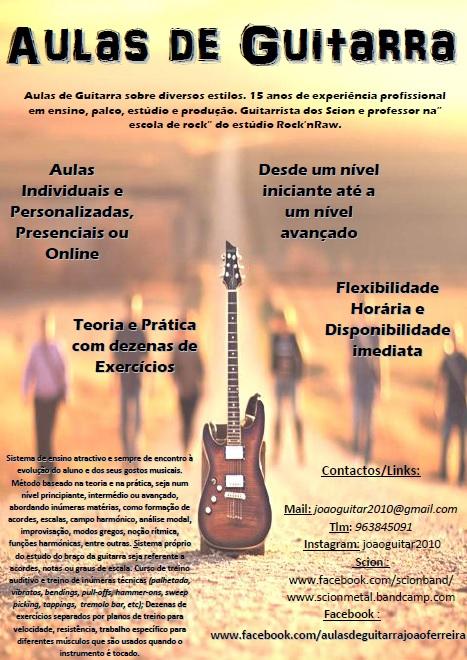 Aulas de Guitarra  Cartaz10