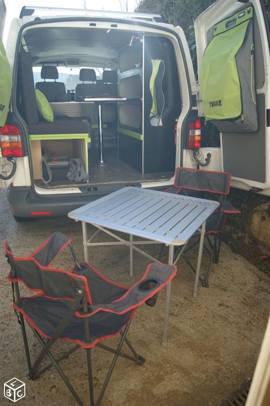 VENDS KIT COMPLET de camping (sur-mesure) pour VAN VW T5 Van511