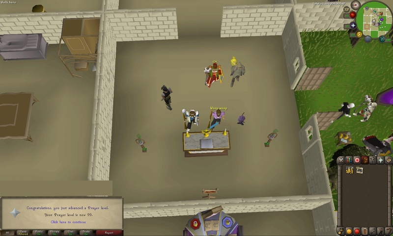 Sacrificed 3/4 of my bank but 99 Prayer achieved! Screen11