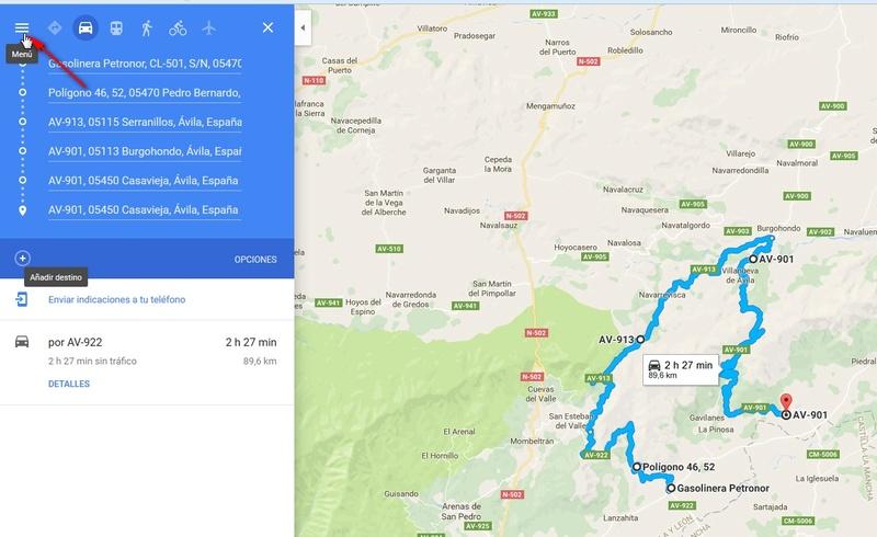 RUTAS CON GOOGLE MAPS. CREAR Y COMPARTIR 210
