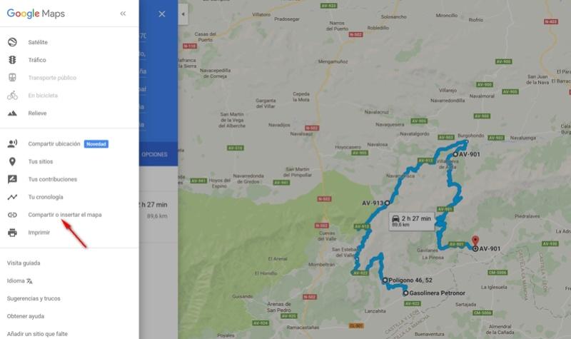 RUTAS CON GOOGLE MAPS. CREAR Y COMPARTIR 310