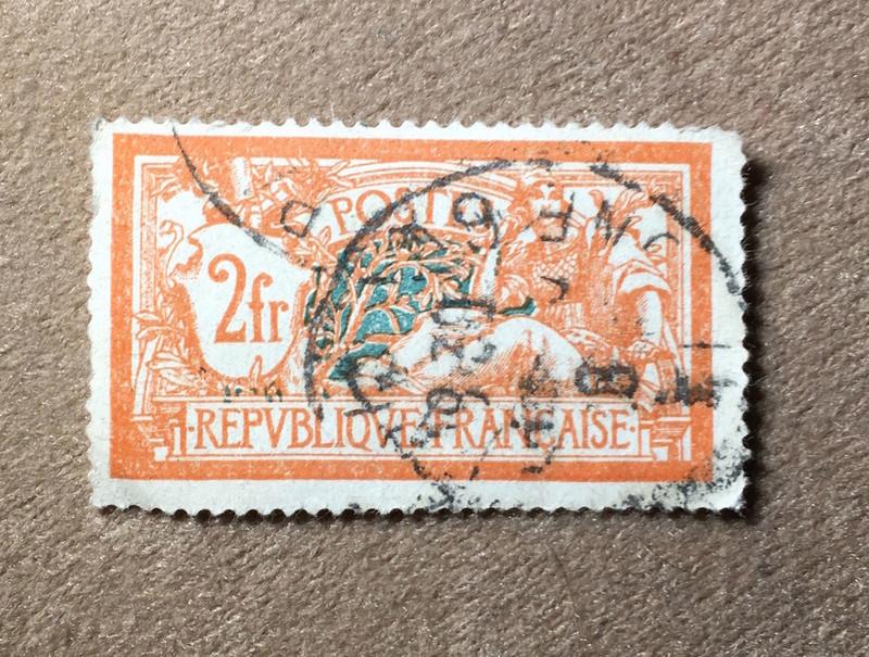 Wertvoll oder nicht?! Briefmarke aus Frankreich Marke10