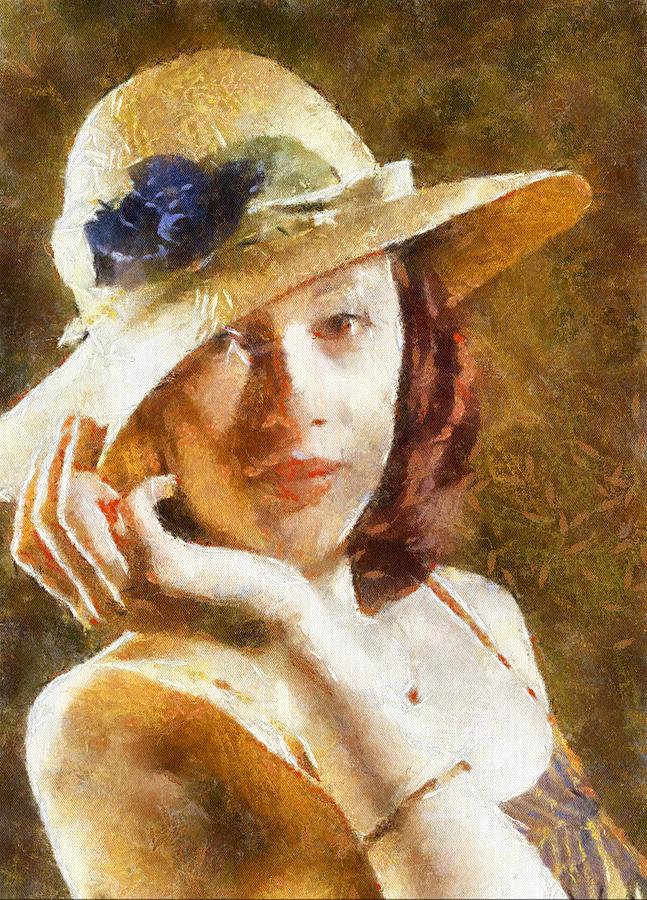 """Des élégantes  """"chapeautées"""" ... - Page 15 Woman-10"""