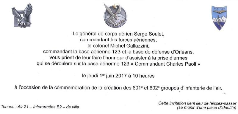 le 80ème anniversaire de la création des 1er GIA et 2éme GIA à Orléans Bricy Cvd10