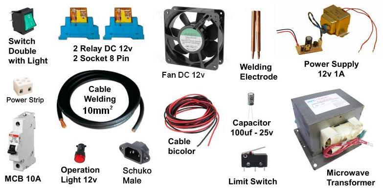 Soldador por puntos para baterías de litio Compon10