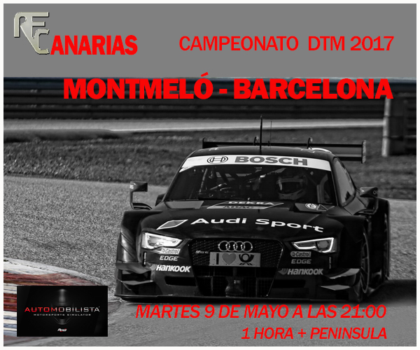 PRESENTACIÓN DTM BARCELONA - MONTMELÓ Cartel13
