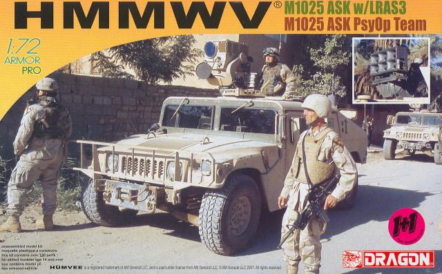 HMMWV (Hummer) 1/72 Revell et Dragon Amps-h10