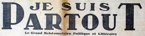 JE SUIS PARTOUT - Le quotidien hebdomadaire Cc_13510