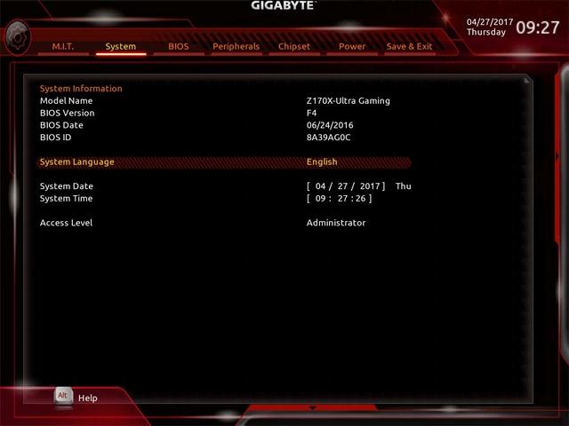 Problème installation El Capitan Z170X Ultra gaming/ GTX 980 2_syst14