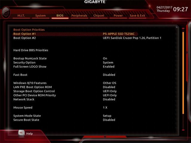 Problème installation El Capitan Z170X Ultra gaming/ GTX 980 3_bios14