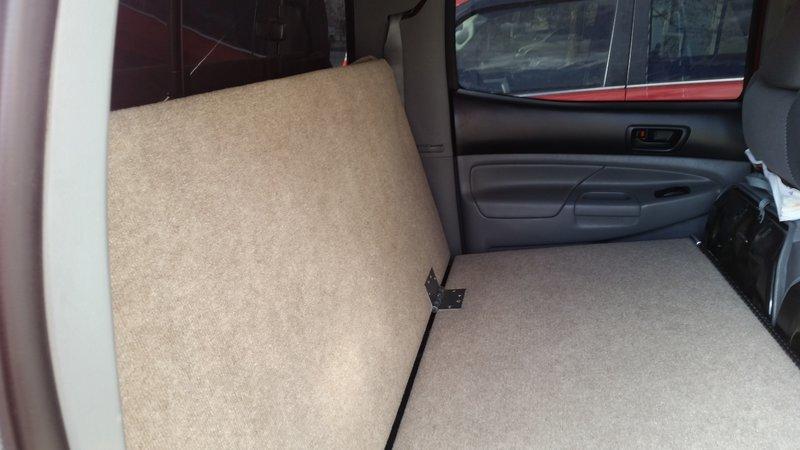 For Toyota Tacoma/General Truck Owners--a Backseat Platform Idea Doggo710