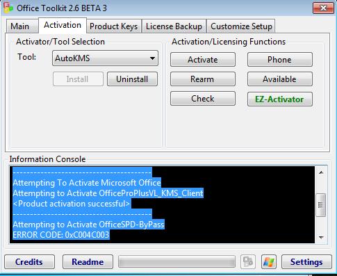 microsoft activation toolkit 2.5.4