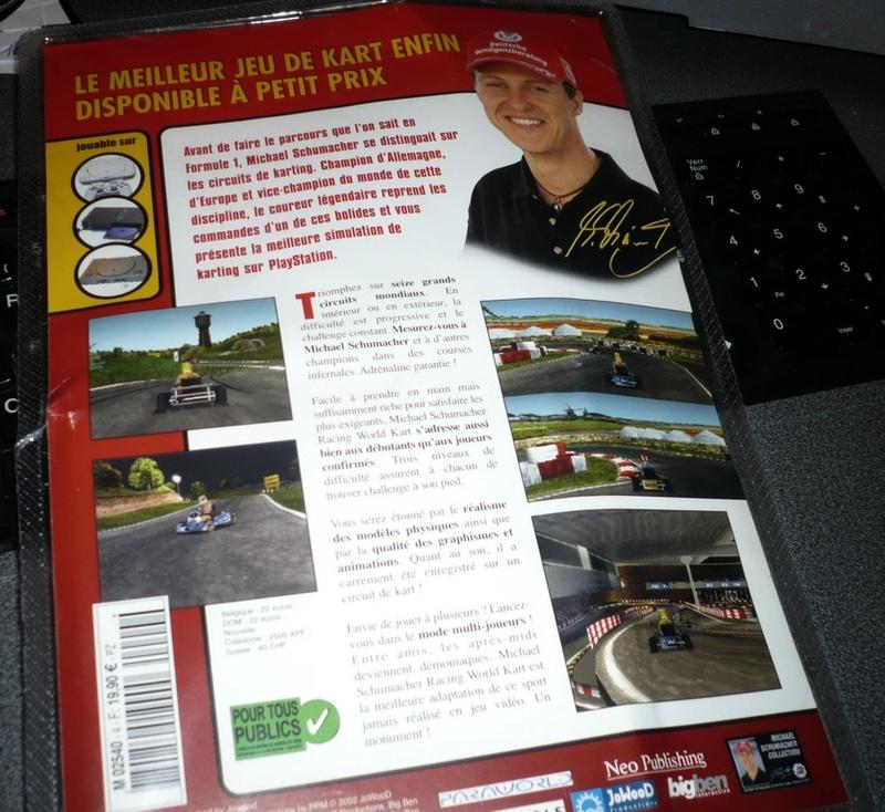 [PS1] sous blister : Michael Schumacher Racing World Kart 2002 P1070912